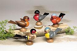 5 Vögel zum Aufstecken