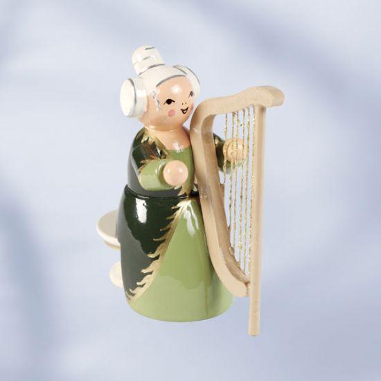 Musikerin mit Harfe