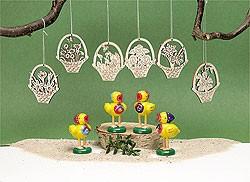 Behang, Blumenkörbchen