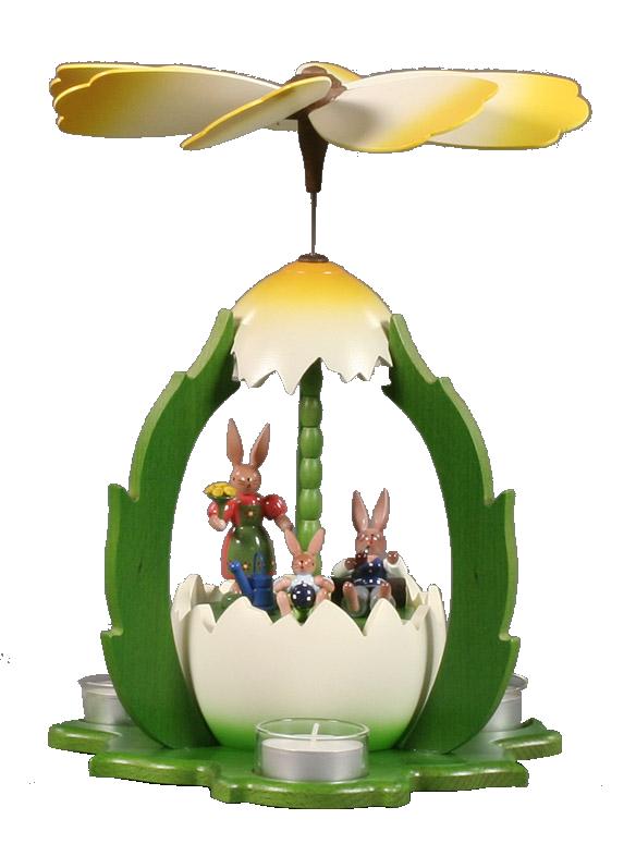 Easter Byramid Bunny Family for Tealights