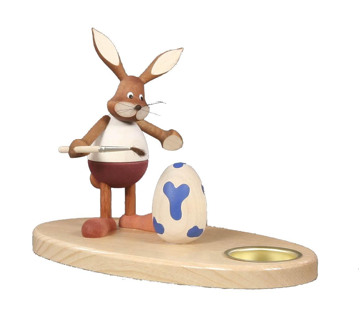 Tealight holder Bunny Painter