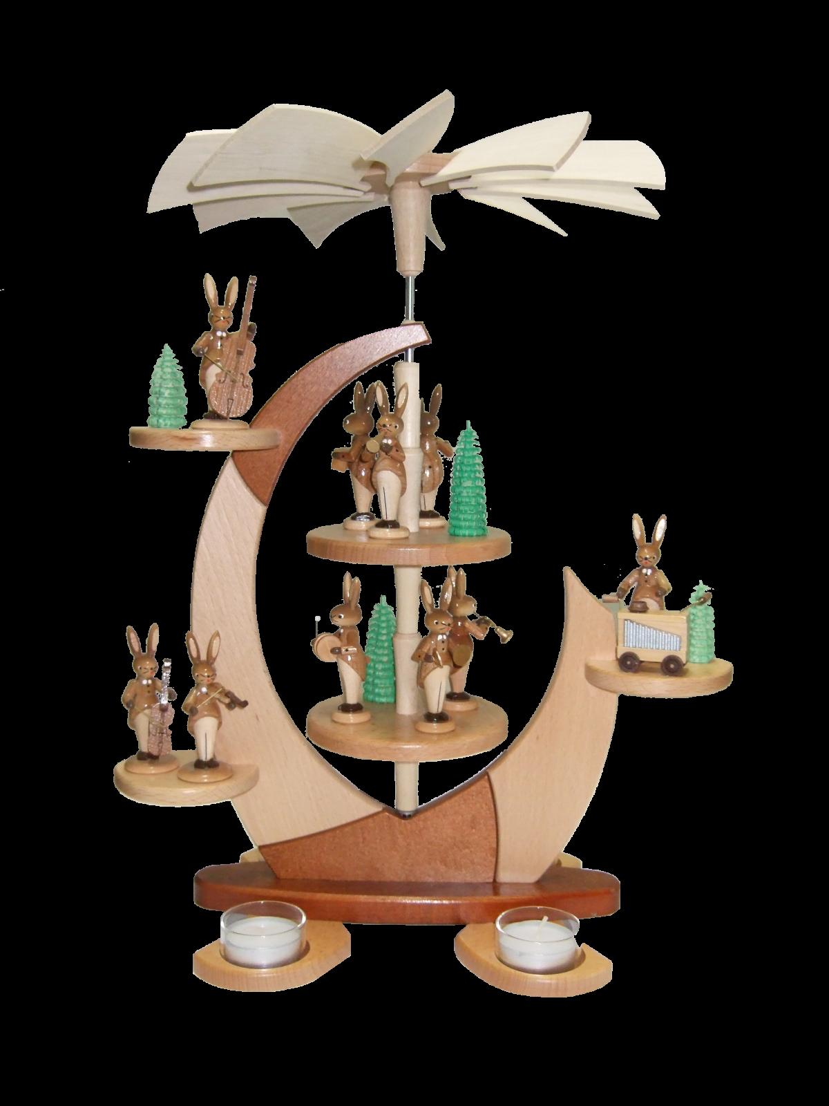 Hasenpyramide - Fröhliche Ostern