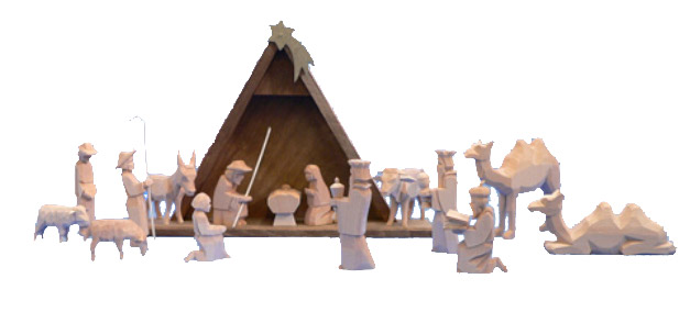 Helbig Nativity 16 pieces, nature