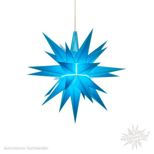 Herrnhuter Stern, Kunststoff 13cm, blau