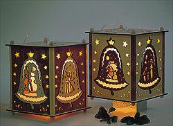 Erzgebirgische Laterne Glocke dunkel