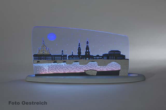 "LED Motivleuchte ""Dresden bei Nacht"""