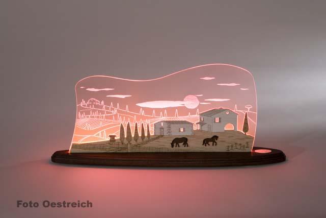 "LED Motivleuchte ""Toscana Sonne"""