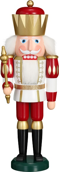 Nutcracker King white-red, 40 cm
