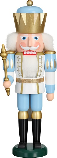 Nutcracker King white-blue, 40 cm