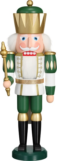 Nutcracker King white-green, 40 cm