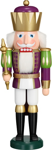 Nutcracker King purple-white, 40 cm
