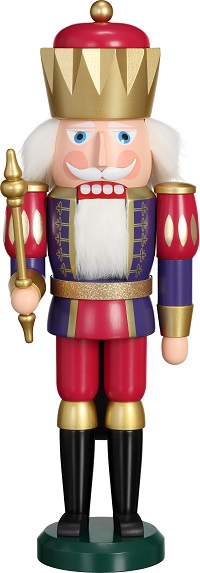 Nutcracker King indigo-raspberry red, 40 cm