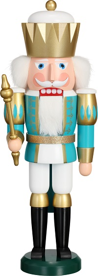 Nutcracker King turquoise-white, 40 cm