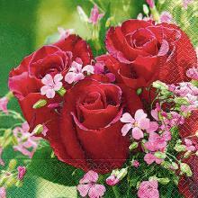 Napkins Bouquet de roses