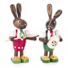 Easter bunny couple Egg painter