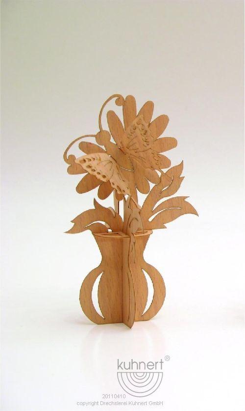 Puzzle card flower vase