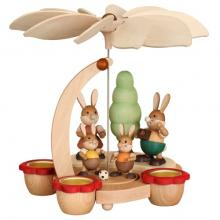 Easter pyramid rabbit family for tealights