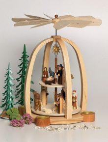 Pyramide Christi Geburt 2-Etg für Teelichter