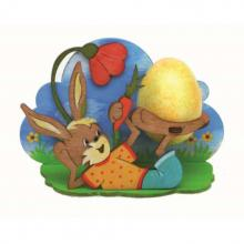 Craft Kit tealight holder Easter bunny, lying