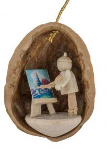 Tree Ornaments Painter in Walnut Shell