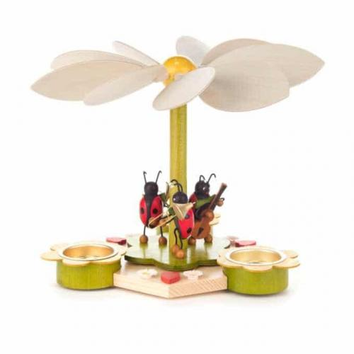Spring Pyramid with Beetle Musicians