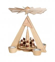 Tealight Pyramid with Carolers