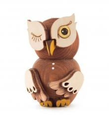 Wooden Figure Mini-Owl Stained