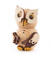 Wooden Figure Mini-Owl Nature
