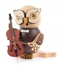 Smoked figure owl with chello