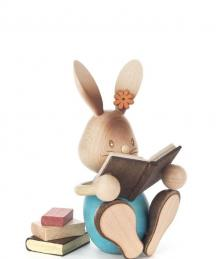 Easter bunny Stupsi with books