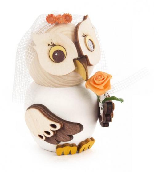 Wooden figure mini owl bride