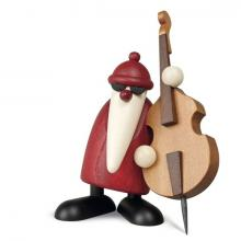 Santa with double bass