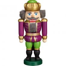 Nutcracker King purple-green, 20cm