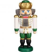 Nutcracker King white-green, 20cm
