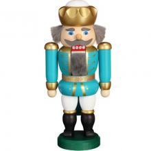 Nutcracker King turquoise-white, 20cm