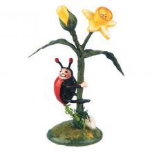 Hubrig Ladybug with daffodil