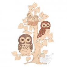 Window picture owl tree