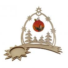 Tealight holder comet with heaven gate, red symphony