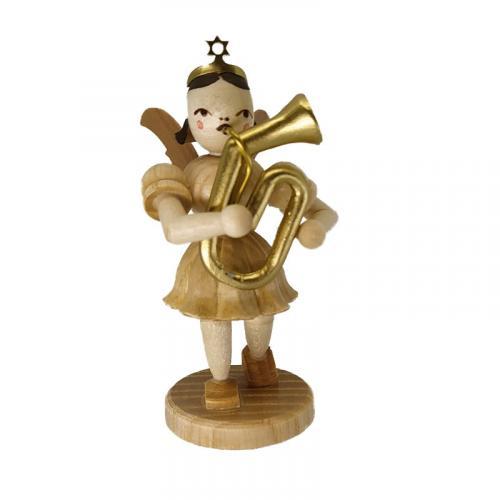 Blank short skirt angel with tenor horn