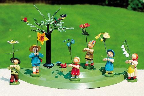 6 Frühlingsblumenkinder