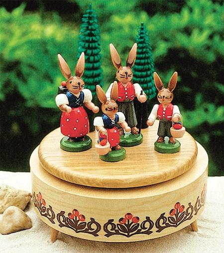 Spieldose Hasenfamilie