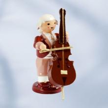 Musiker mit Kontrabass, stehend