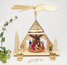 pyramid crib house colored, sanded