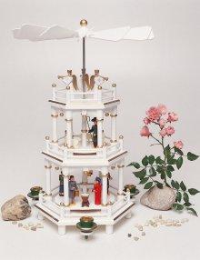 pyramid crib white, 3 floors