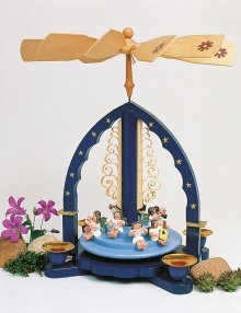 Pyramid angel concert, blue