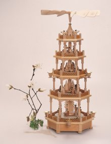 Pyramid Christmas story 5 floors, with musical mechanism