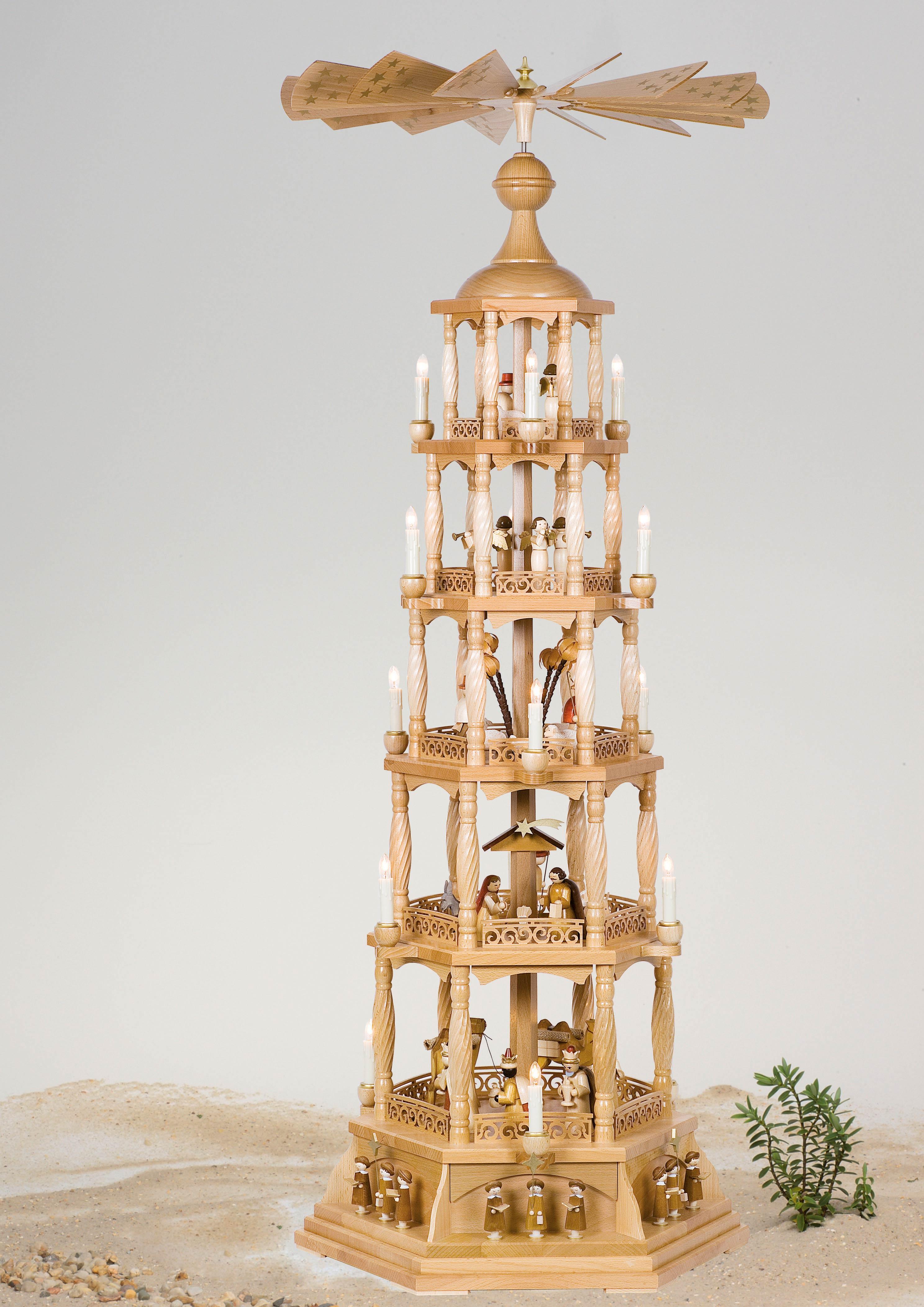 Pyramide Christi Geburt natur 5 Etg elekt. betr.