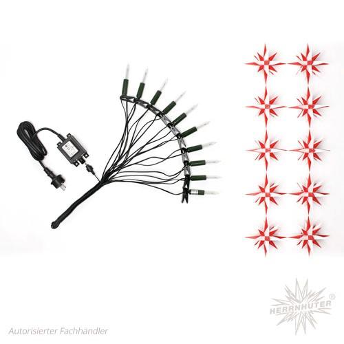 Herrnhuter star chain white/red
