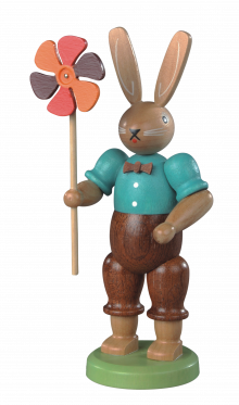 Hasenmann mit Windrad