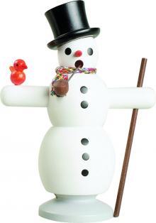 Räucherfigur Schneemann mit Schal